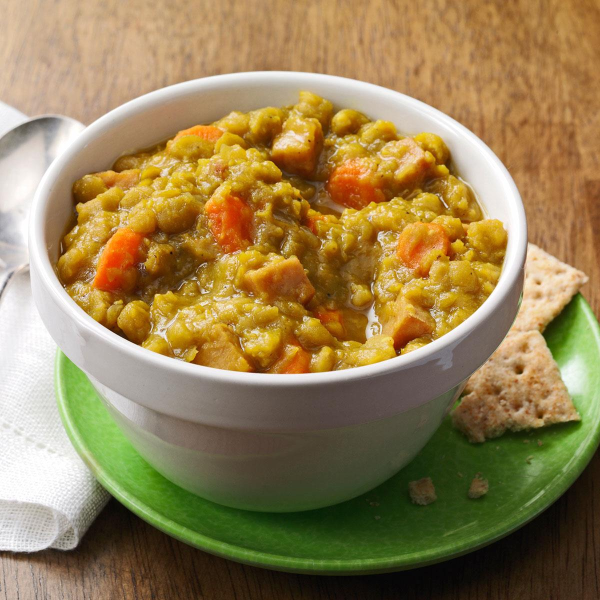 Curried Ham & Split Pea Soup image