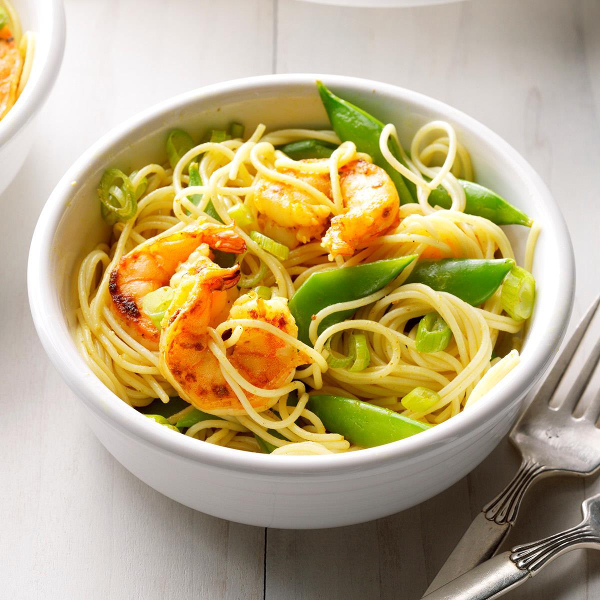 Curried Shrimp Pasta image