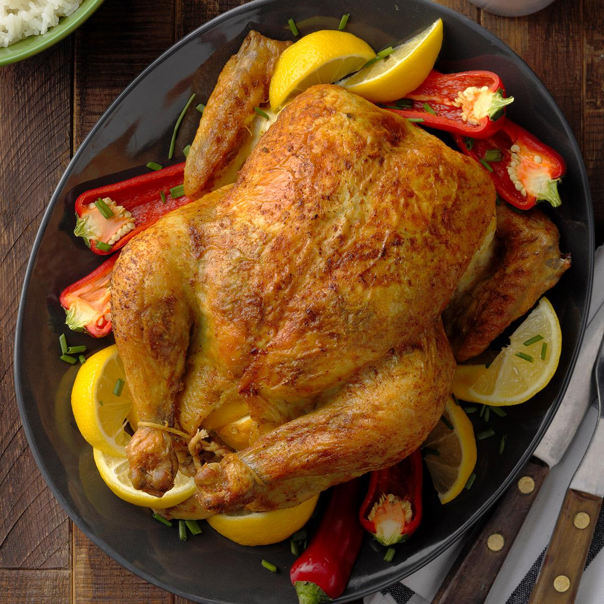 Curry-Rubbed Roast Chicken image