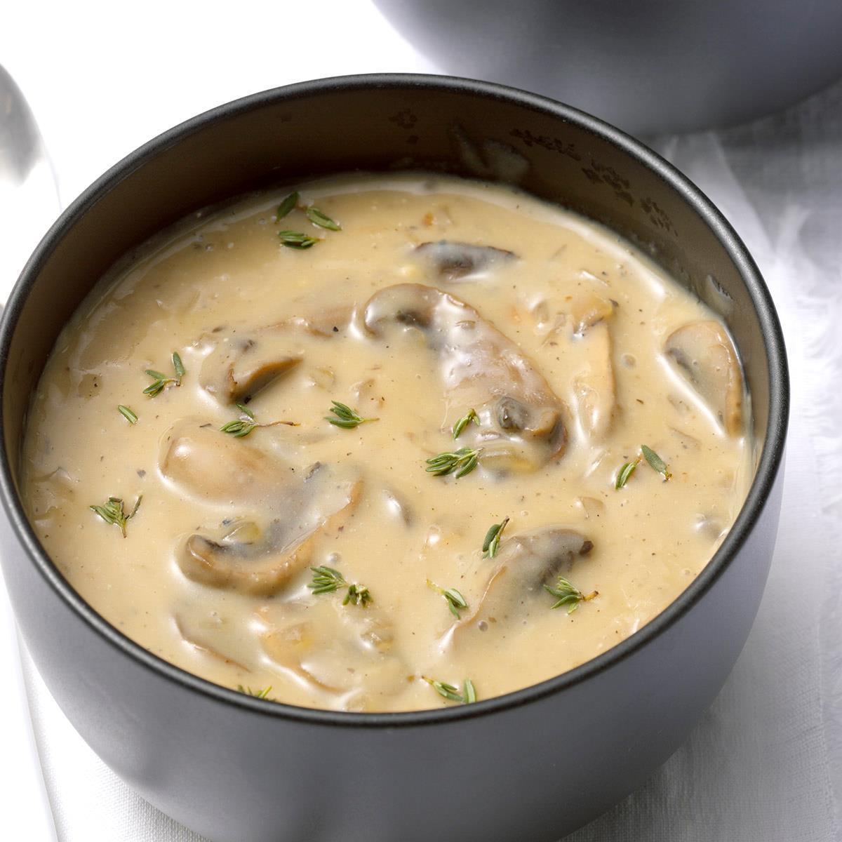 Dairy Free Cream Of Mushroom Soup Recipe How To Make It Taste Of Home