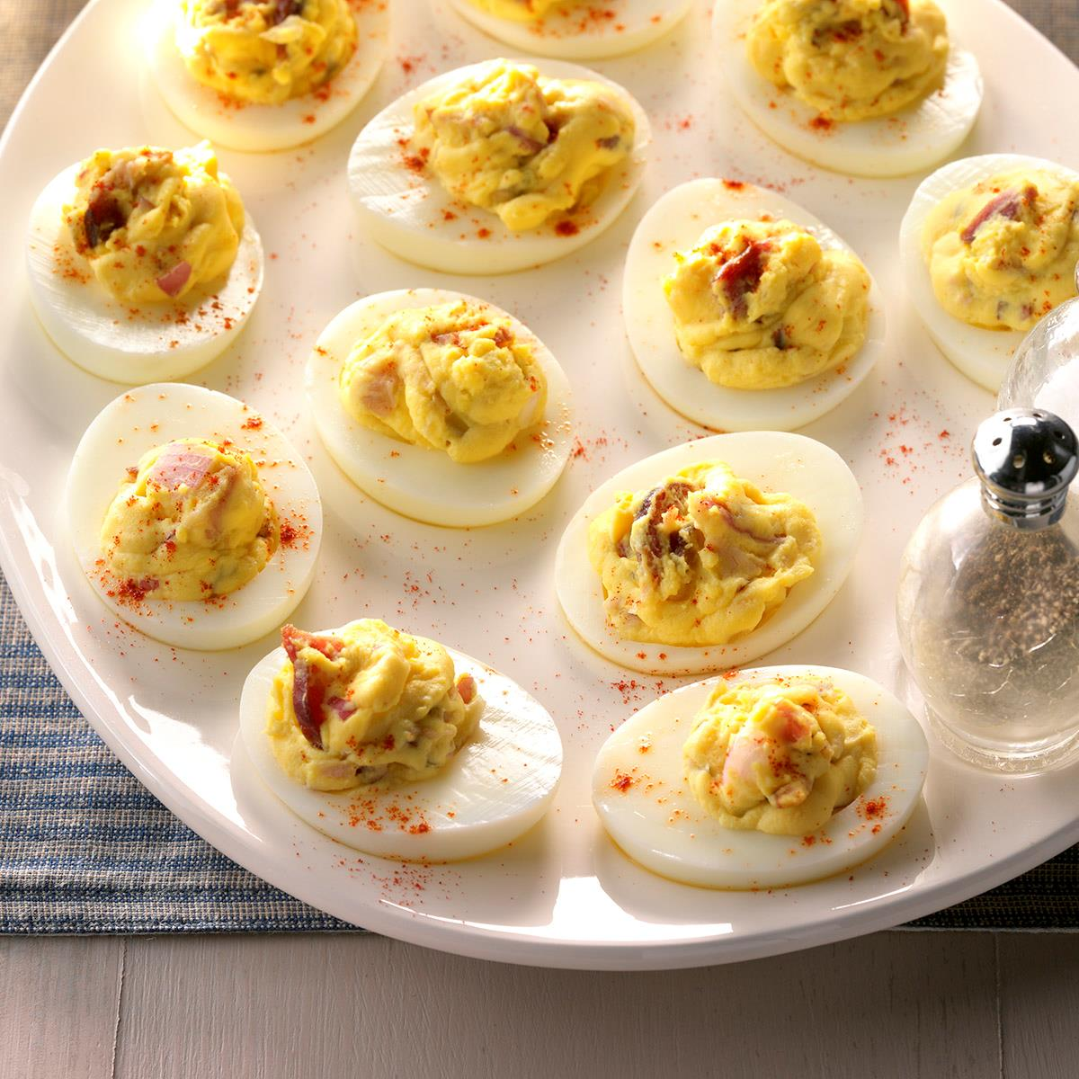 Deviled Eggs With Bacon Recipe How To Make It Taste Of Home