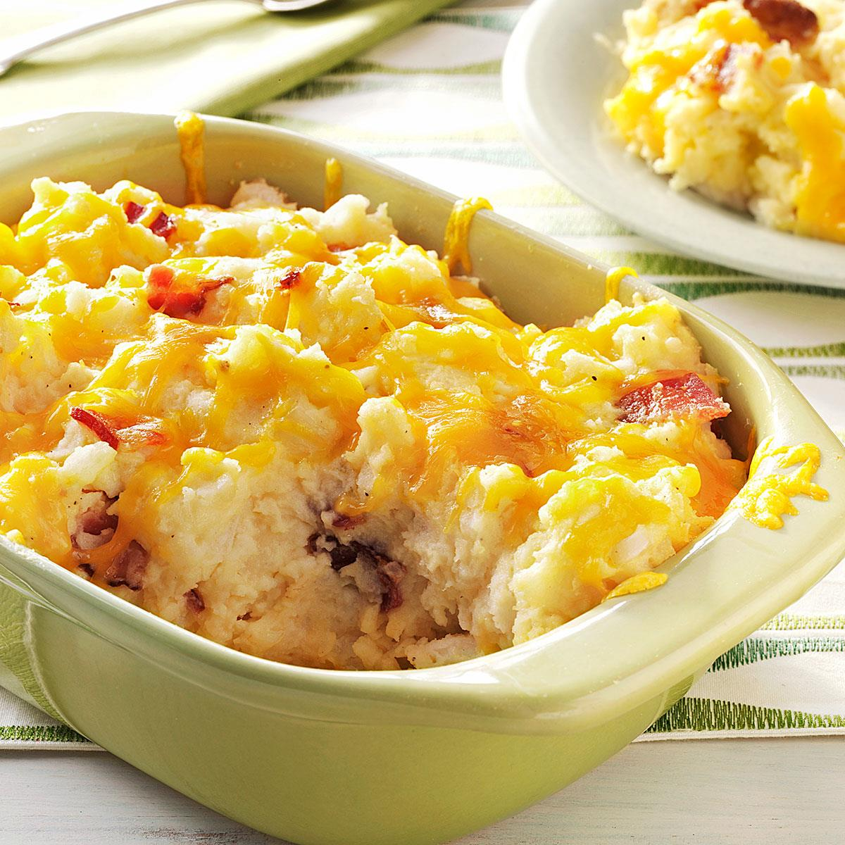 Double Baked Mashed Potatoes Recipe How To Make It Taste Of Home