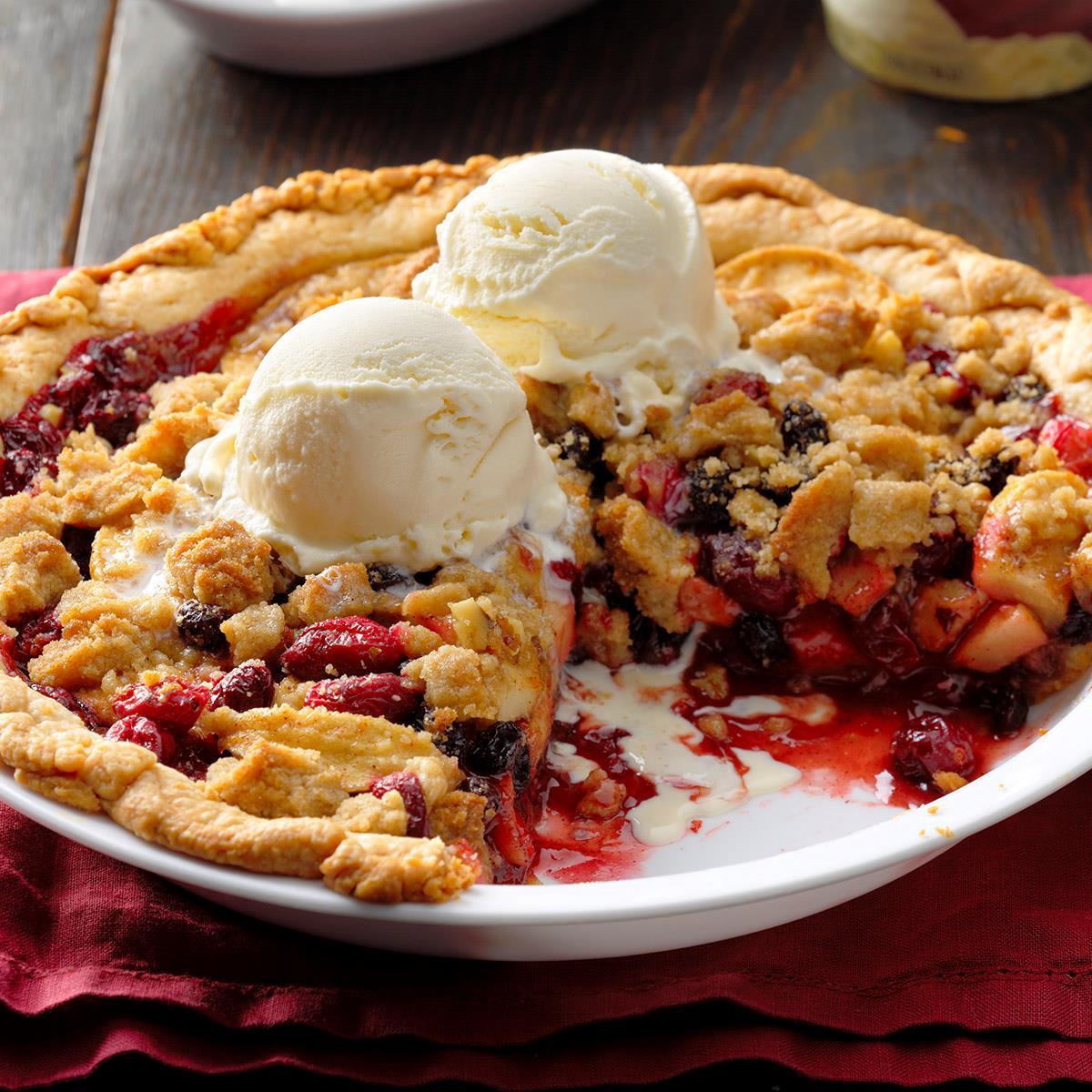 Dutch Cranberry Apple Pie