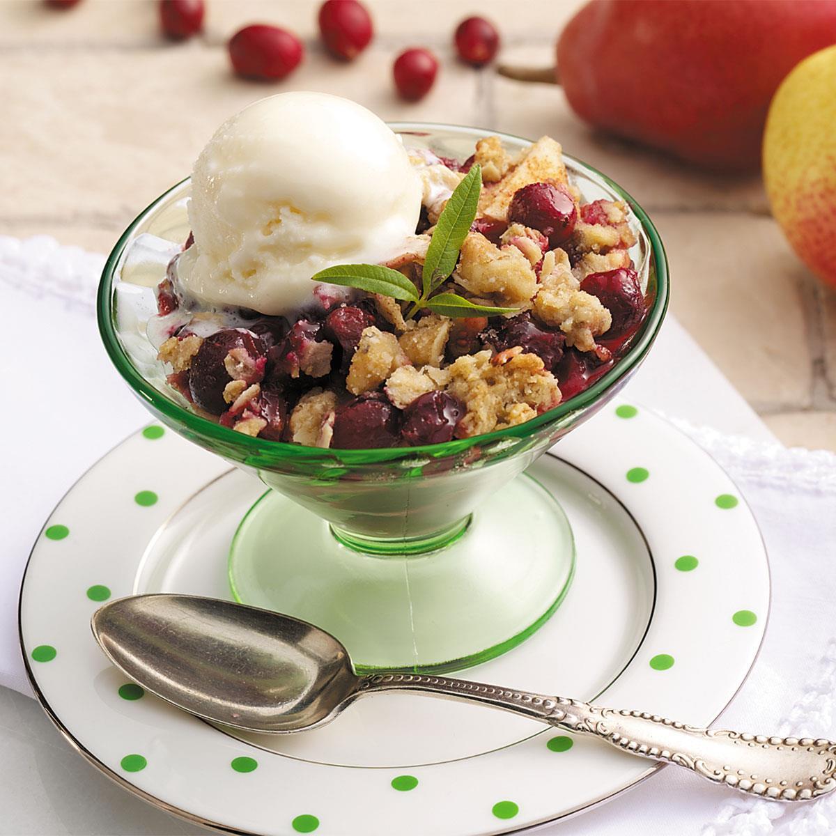 Cranberry Pear Crisp image