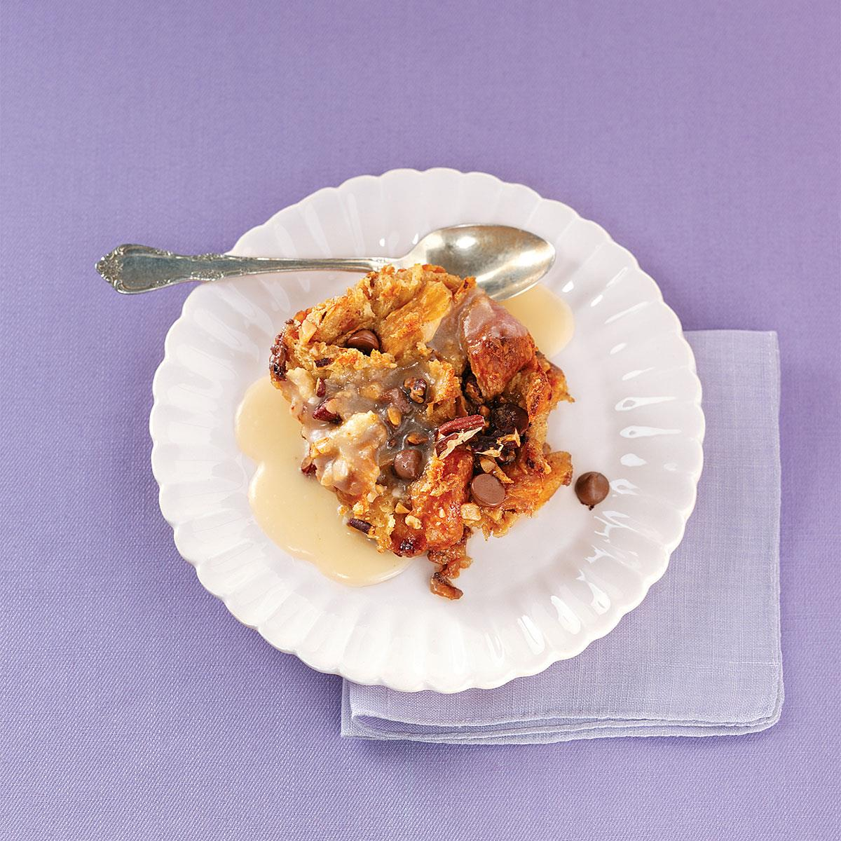 Cinnamon-Toffee Croissant Bread Pudding image