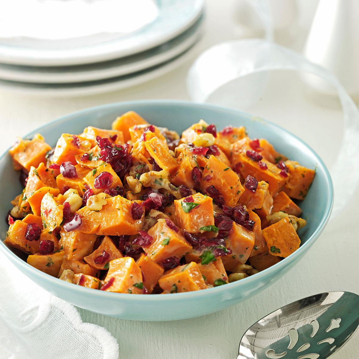 Roasted Sweet Potato Salad Recipe How To Make It Taste Of Home