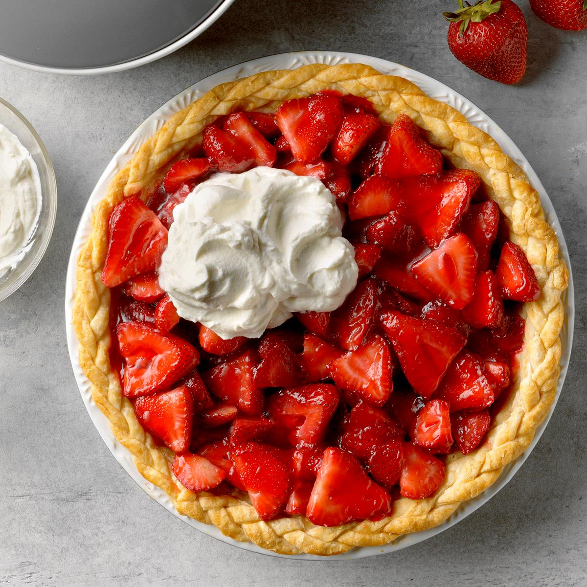 Easy Fresh Strawberry Pie Recipe How To Make It Taste Of Home