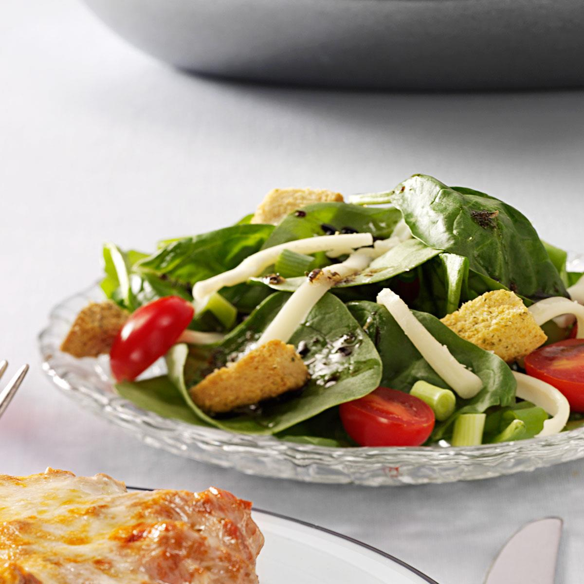 Easy Italian Spinach Salad Recipe How To Make It Taste Of Home