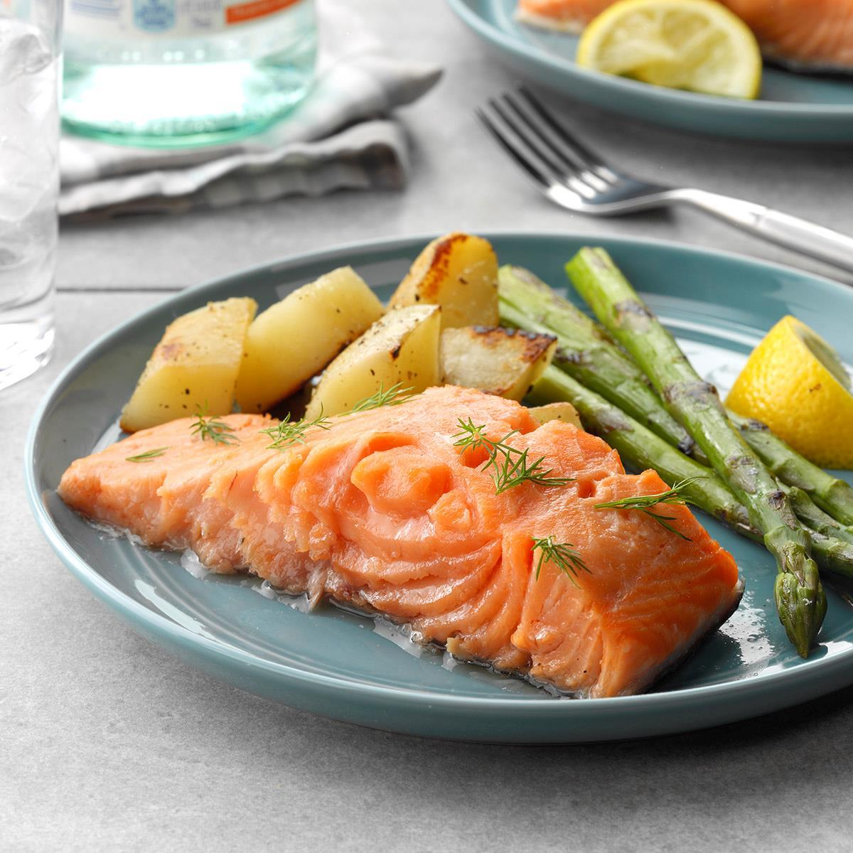 Easy Poached Salmon Recipe: How to Make It | Taste of Home