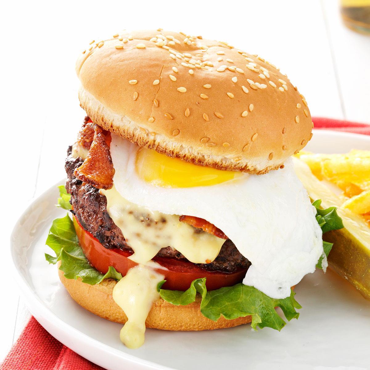 Eggs Benedict Burgers Recipe How To Make It Taste Of Home