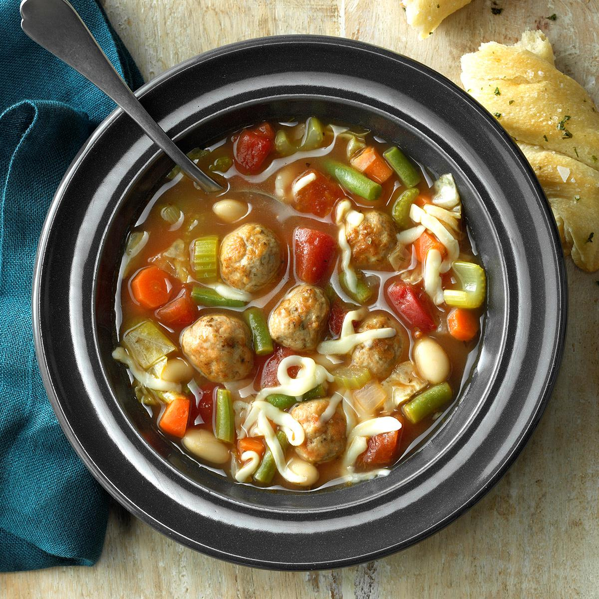 Flavorful Meatball Soup