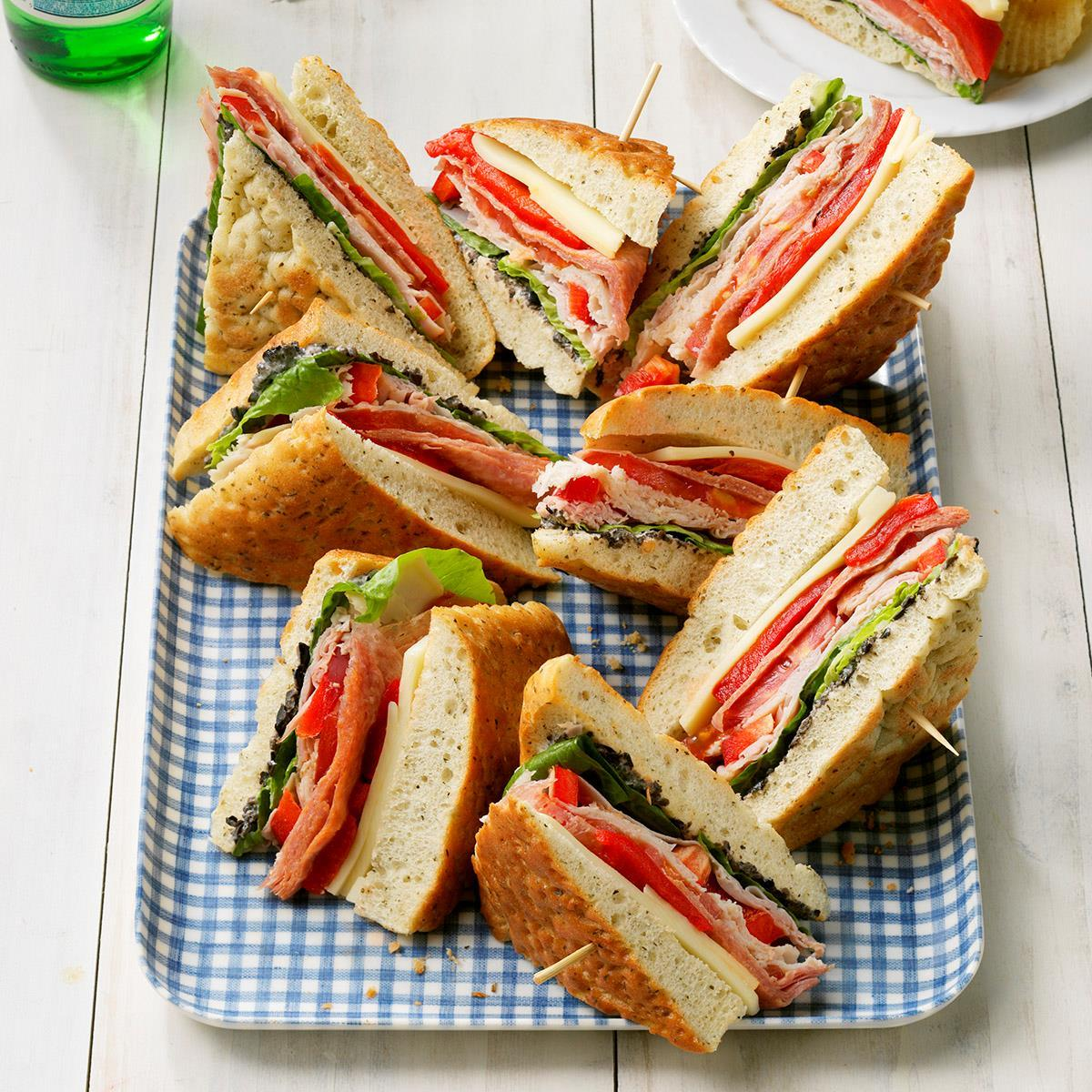 Focaccia Sandwiches Recipe How To Make It Taste Of Home