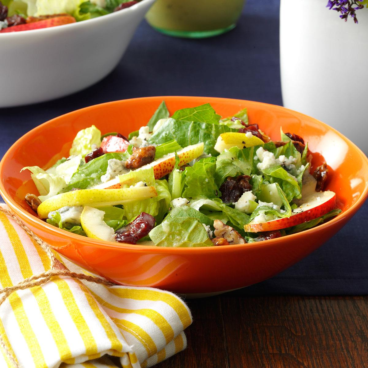 Fresh Pear Romaine Salad Recipe How To Make It Taste Of Home