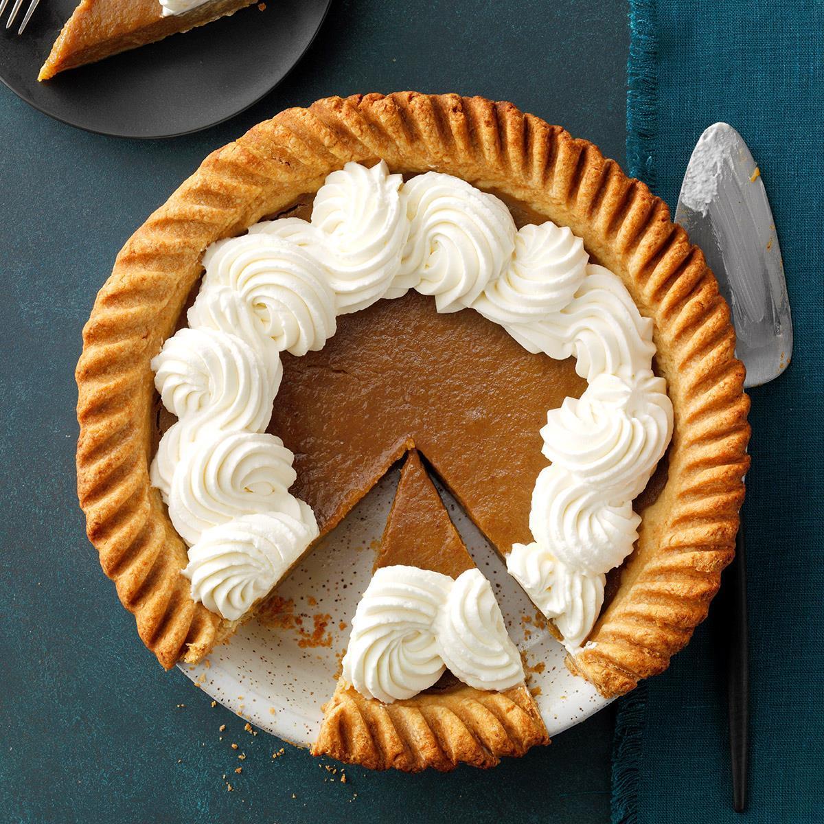 Fresh Pumpkin Pie Recipe How To Make It Taste Of Home