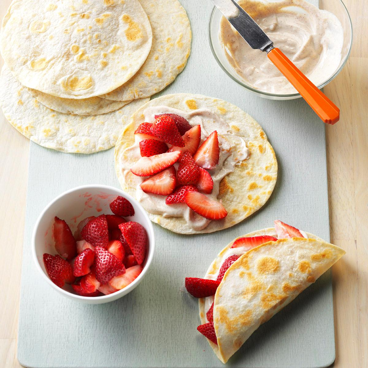 Fresh Strawberry Breakfast Tacos Recipe How To Make It Taste Of Home