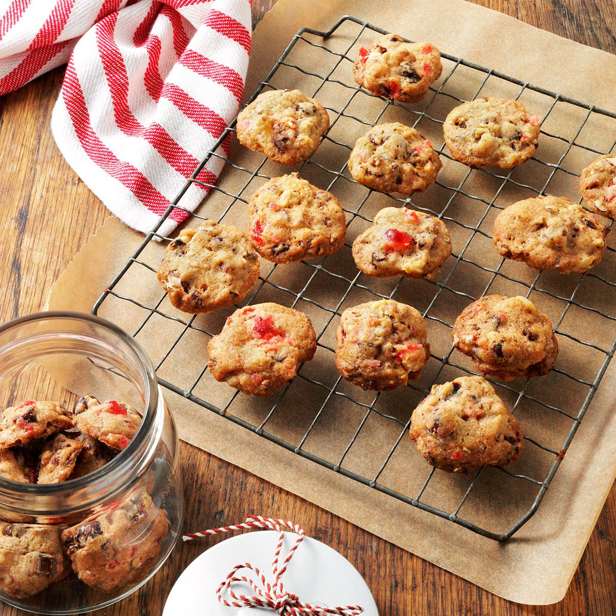 Fruitcake Christmas Cookies Recipe | Taste of Home