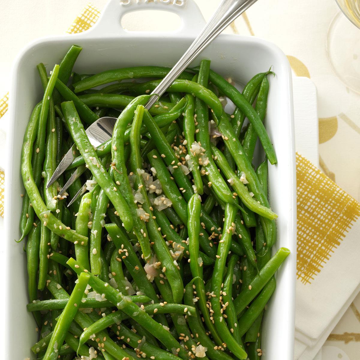 Garlic Sesame Green Beans Recipe Taste Of Home