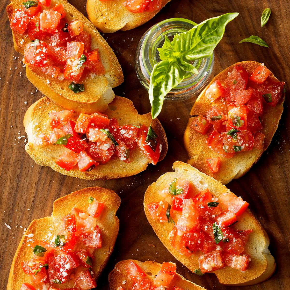Garlic Tomato Bruschetta Recipe How To Make It Taste Of Home
