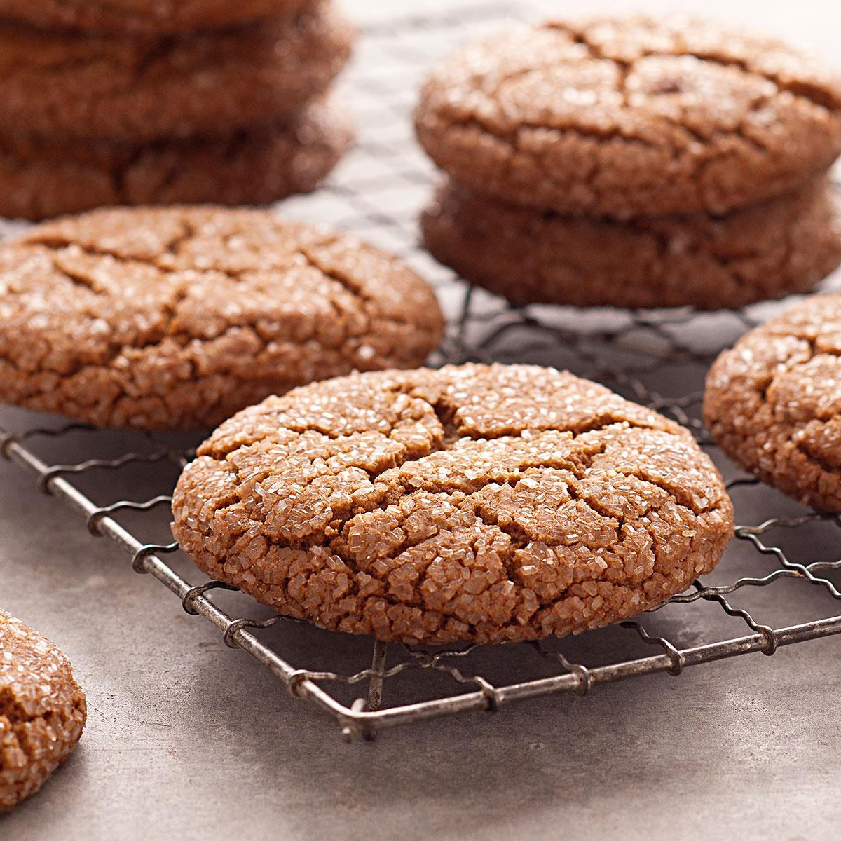 Giant Molasses Cookies Recipe How To Make It Taste Of Home