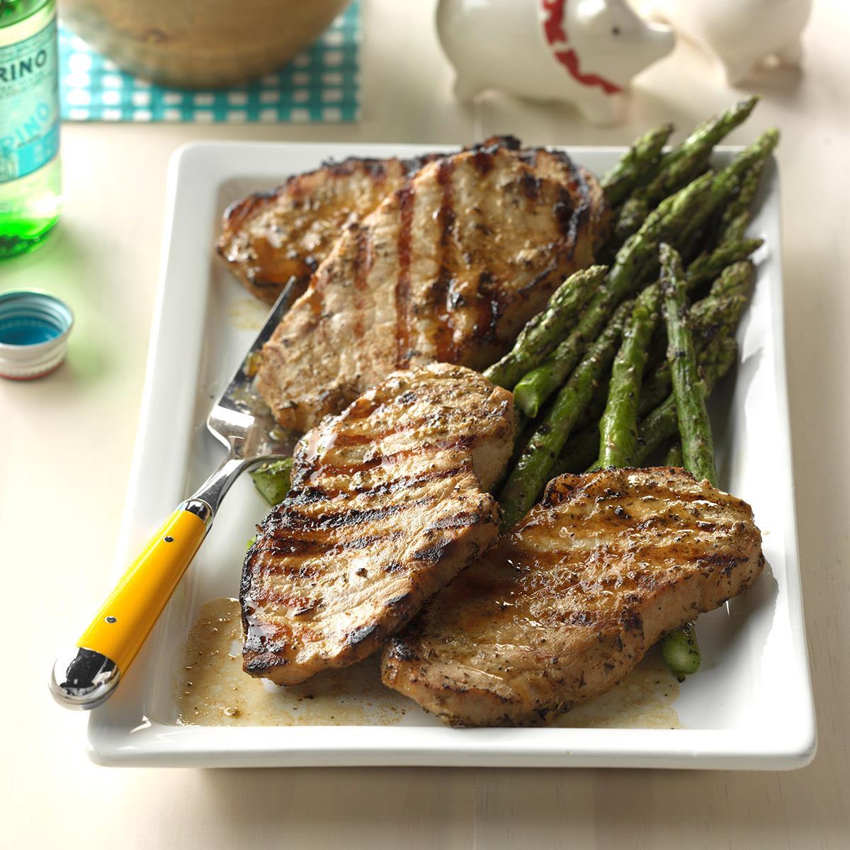 Greek Pork Chops Recipe How To Make It Taste Of Home