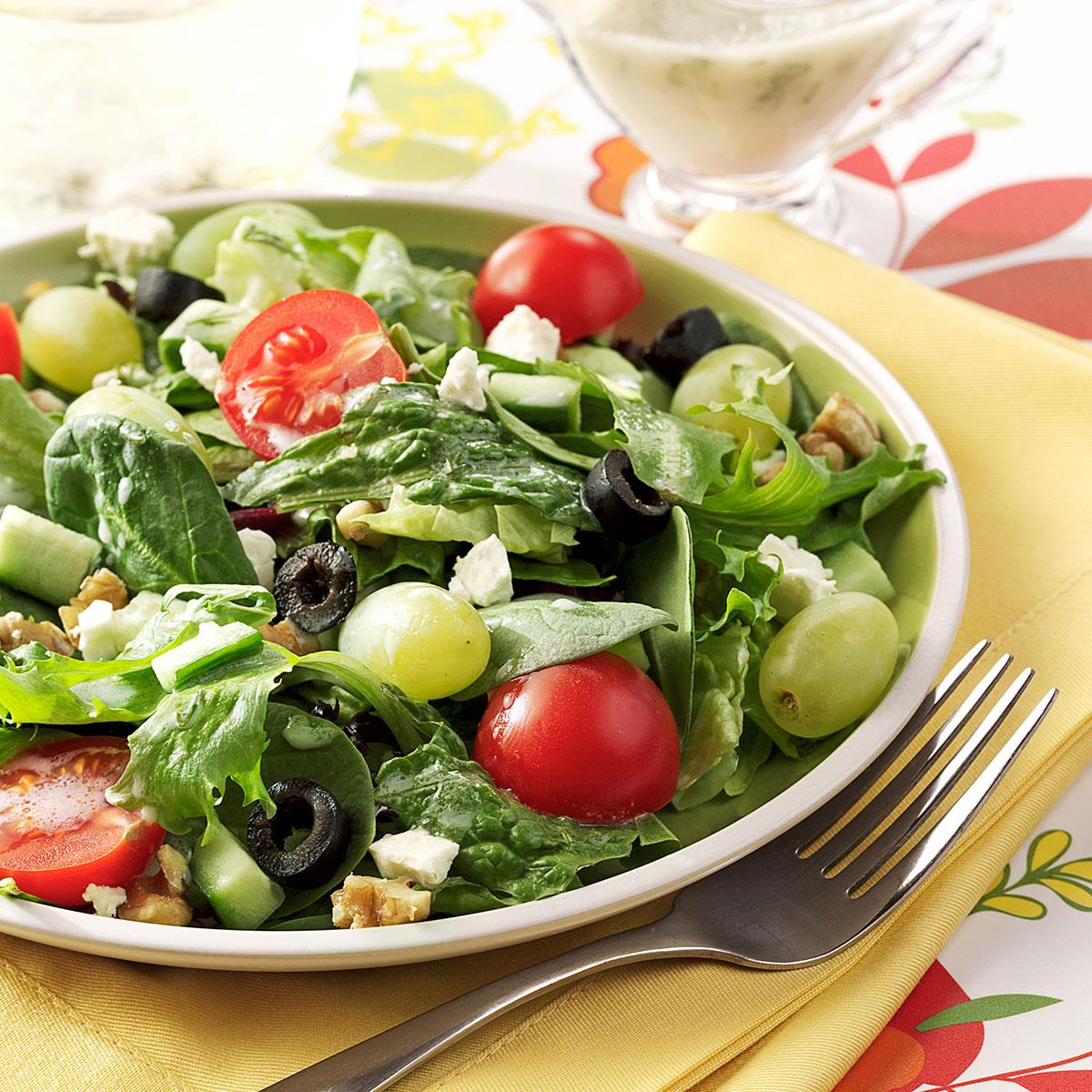 Greek Salad with Green Grapes Recipe | Taste of Home