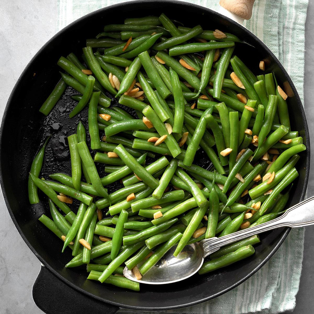 Green Beans Amandine Recipe How To Make It Taste Of Home