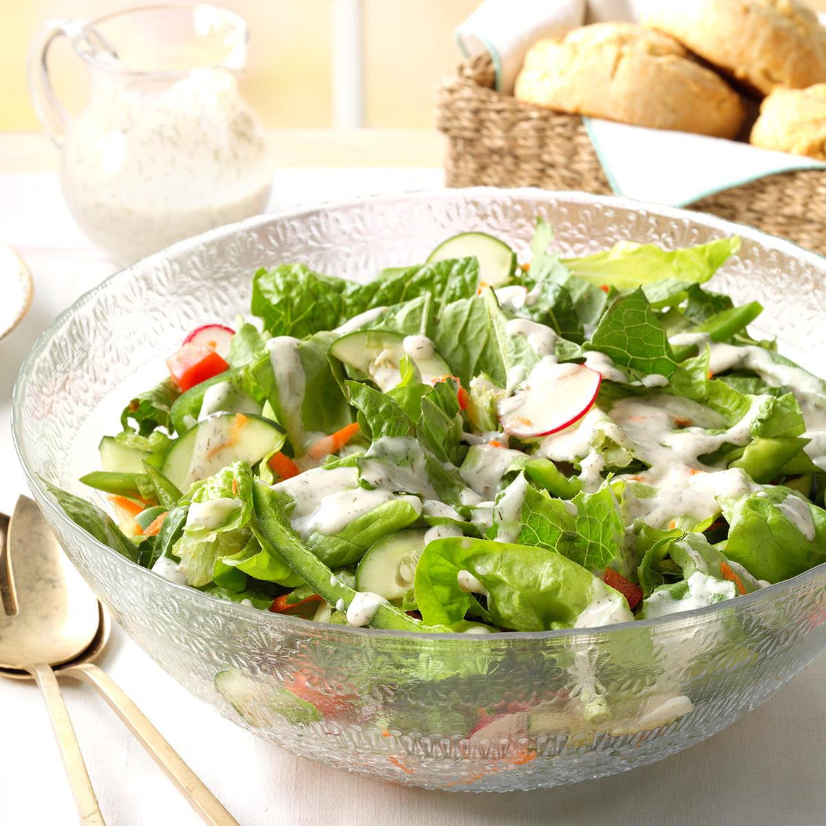 Green Salad with Dill Dressing image