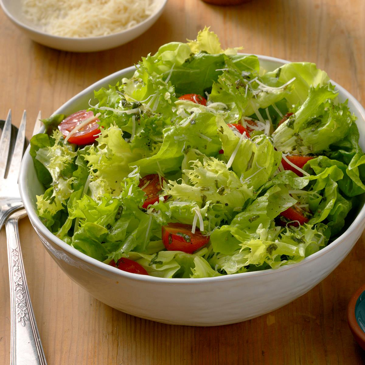 Green Salad With Tangy Basil Vinaigrette Recipe How To Make It Taste Of Home