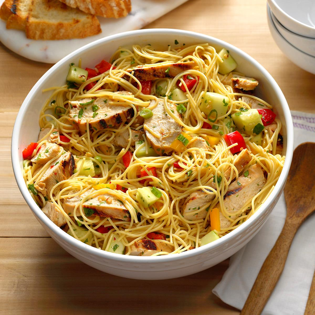 Grilled Asian Chicken Pasta Salad image