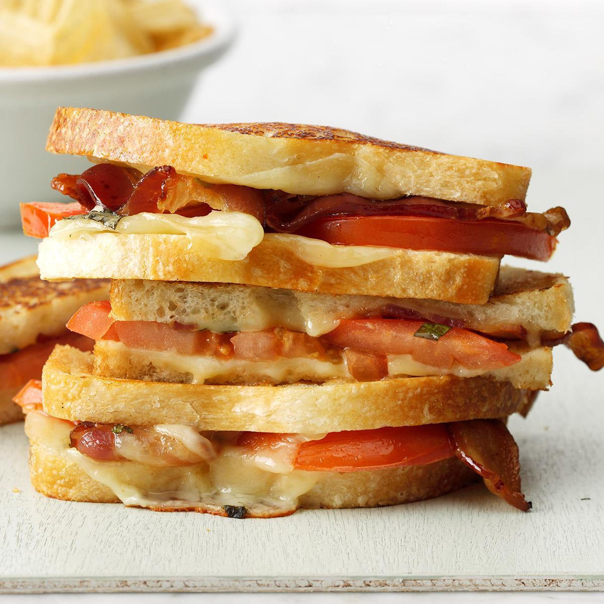 Grilled Bacon-Tomato Sandwiches