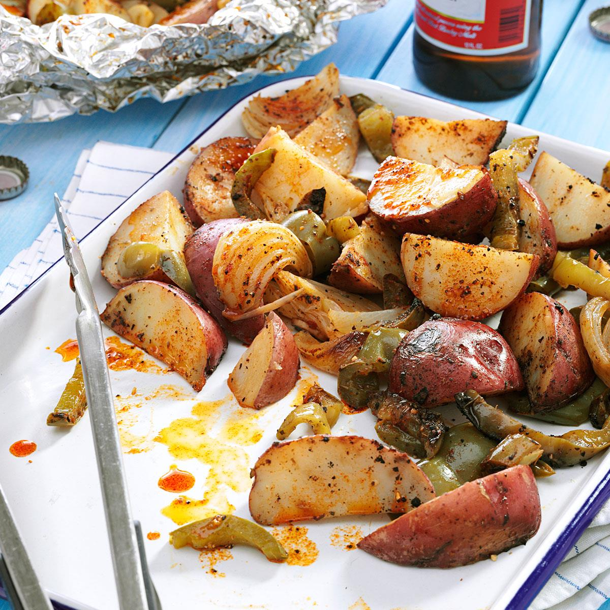 Grilled Potatoes Peppers Recipe Taste Of Home