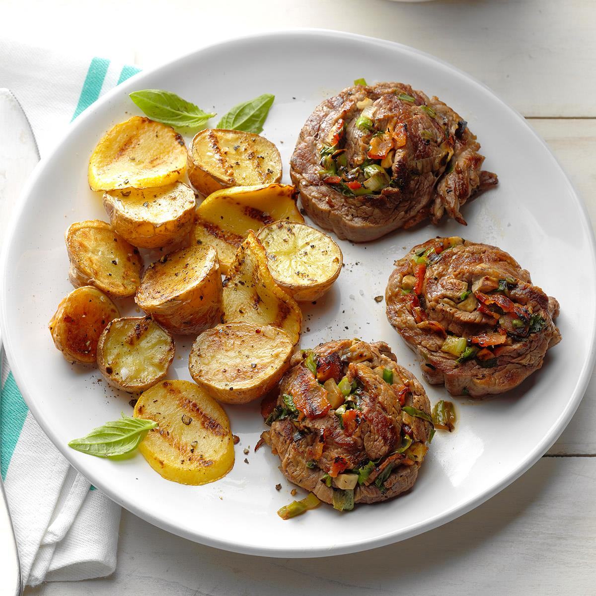 Grilled Steak Pinwheels