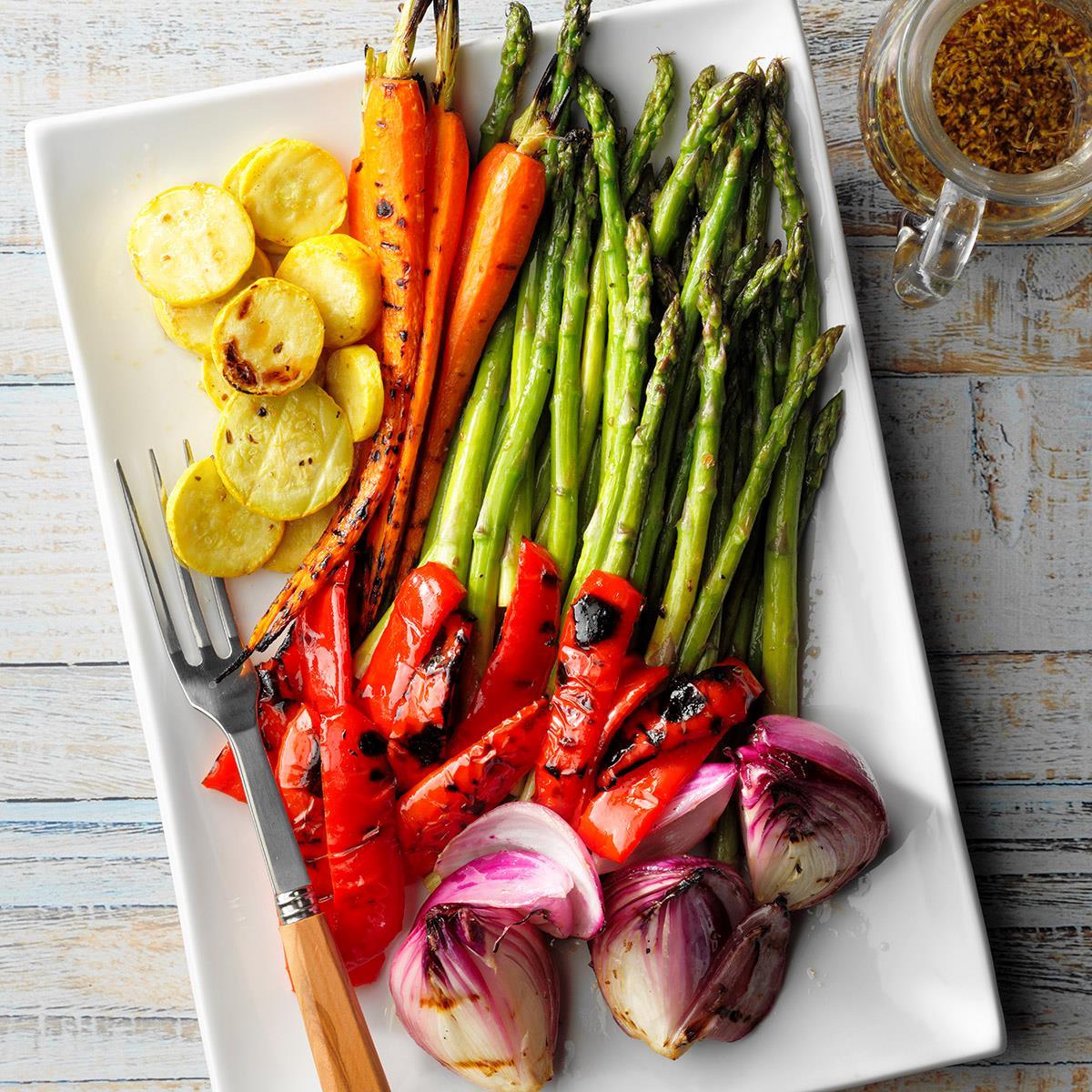 Grilled Vegetable Platter Recipe How To Make It Taste Of Home