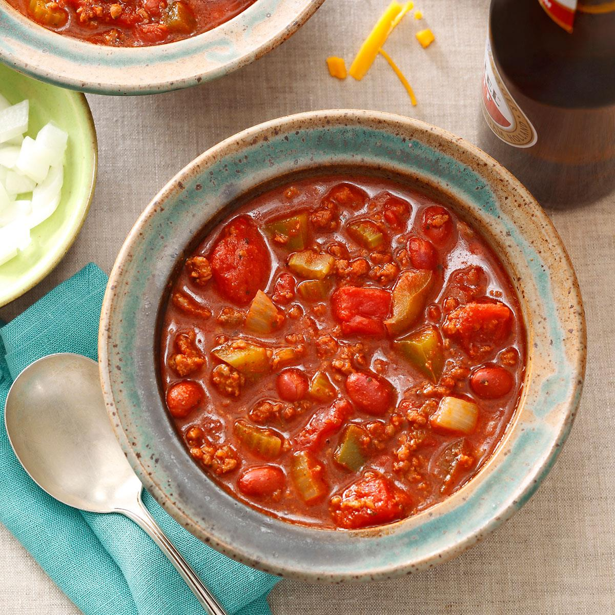 Ground Beef Chili Recipe How To Make It Taste Of Home