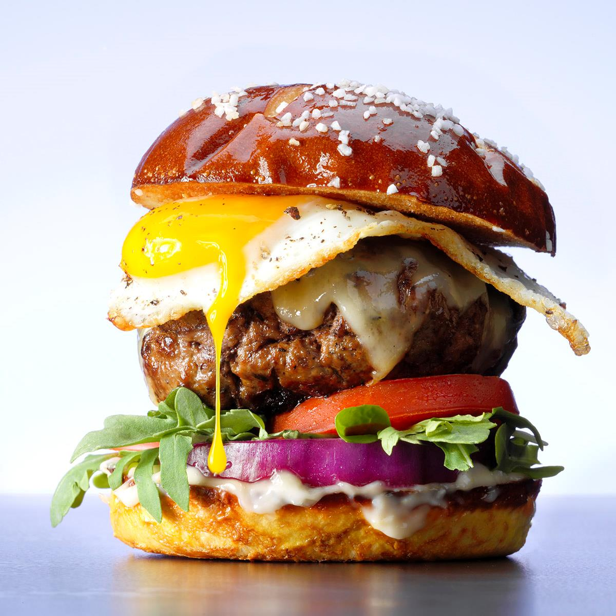Gruyere and Egg Burgers Recipe: How to Make It | Taste of Home
