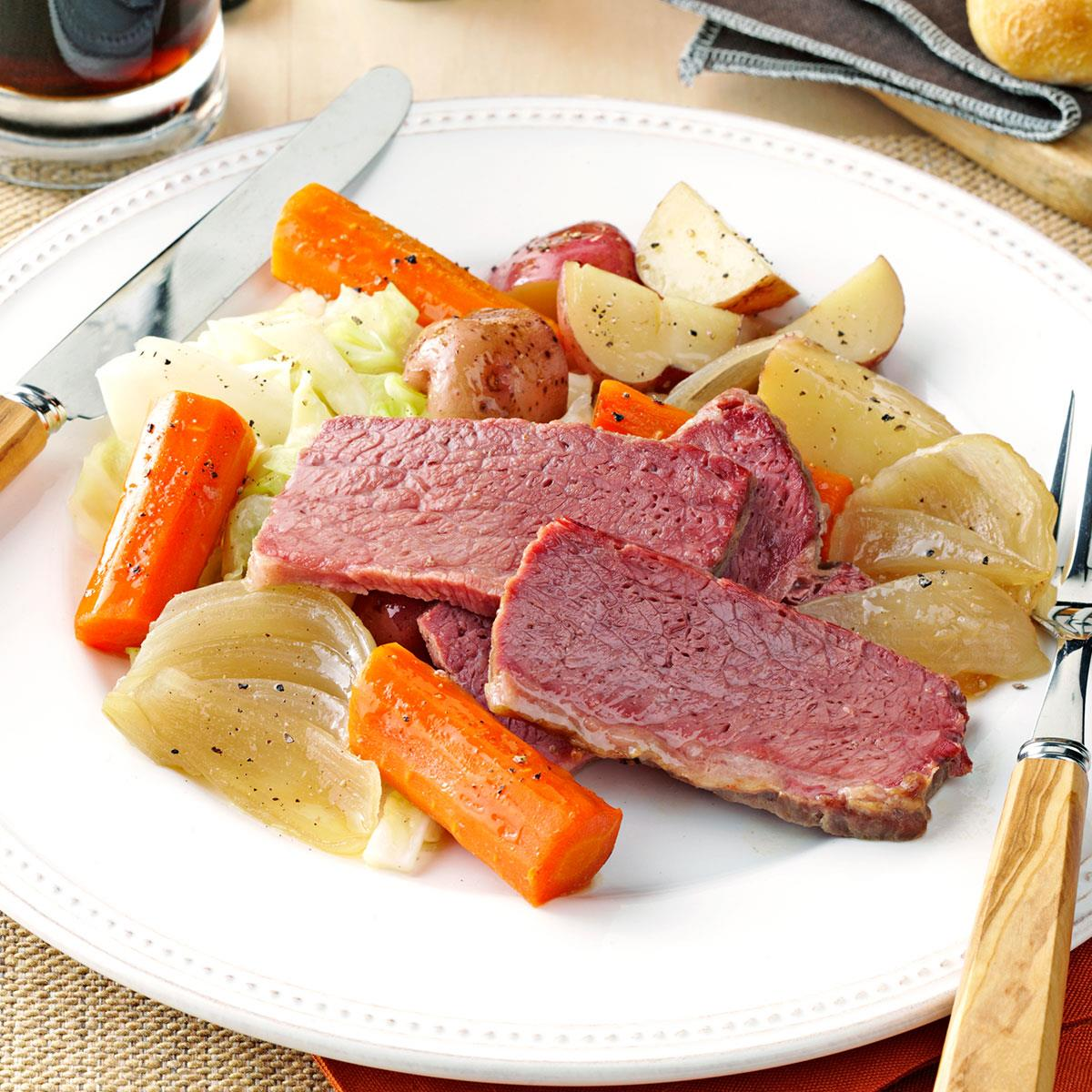 Guinness Corned Beef And Cabbage Recipe Taste Of Home