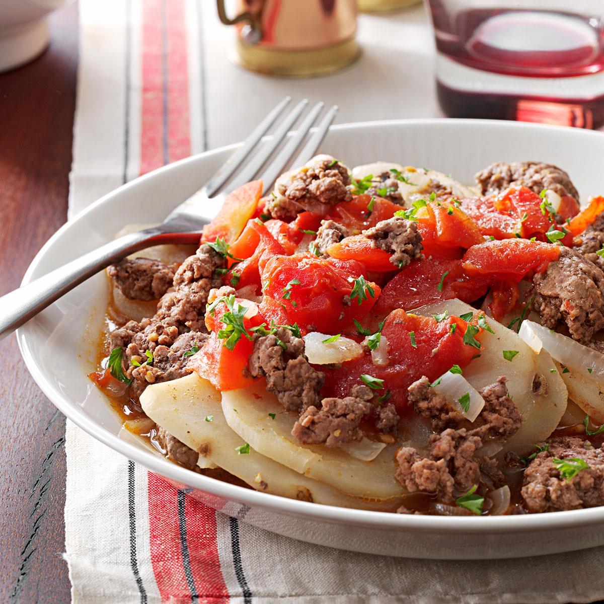 Hamburger Casserole Recipe Taste Of Home