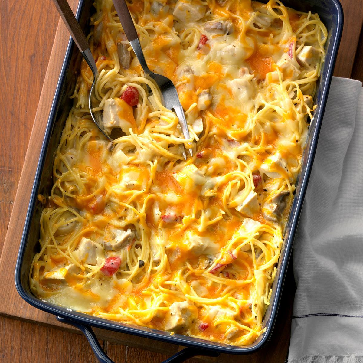 Hearty Chicken Spaghetti Casserole image