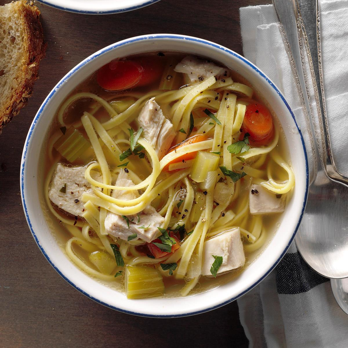 Hearty Homemade Chicken Noodle Soup Recipe Taste Of Home