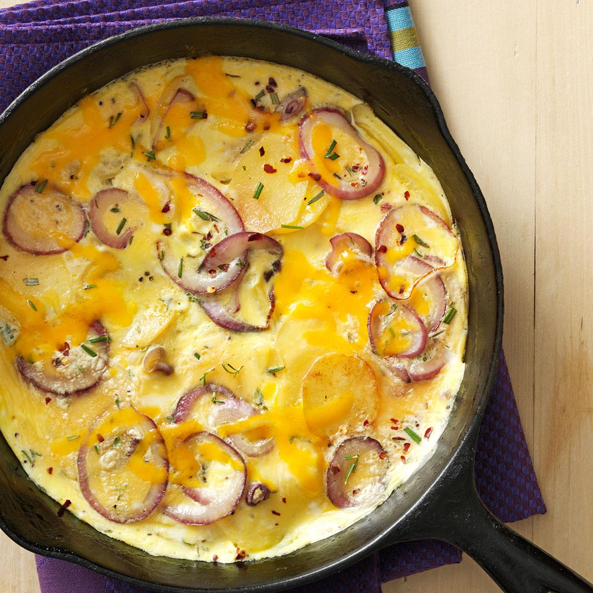 Herb Breakfast Frittata Recipe How To Make It Taste Of Home