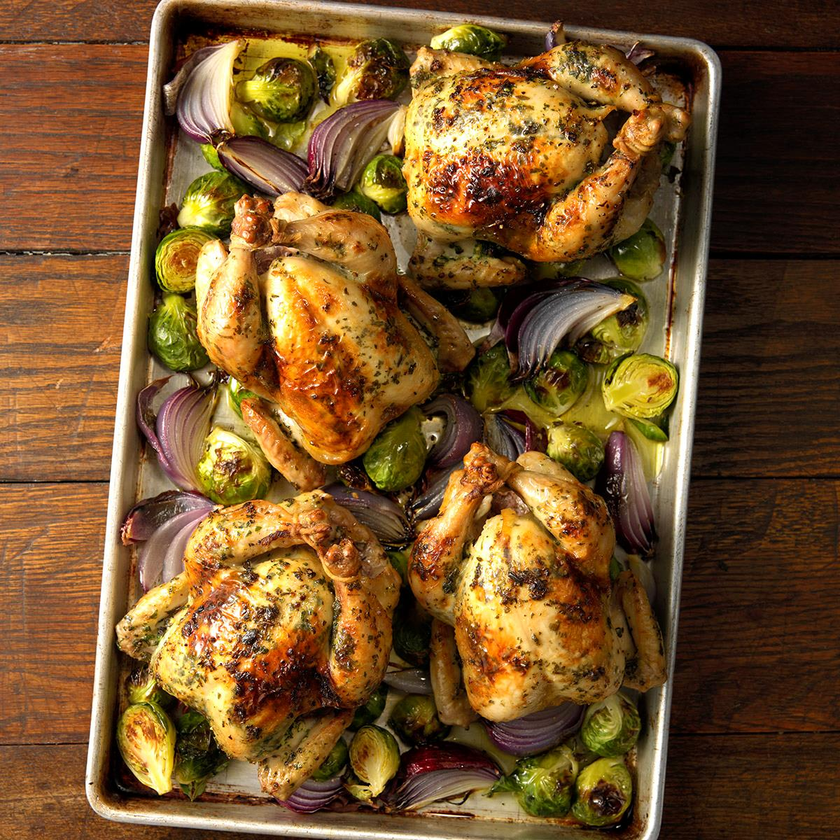 Herb-Brined Cornish Game Hens