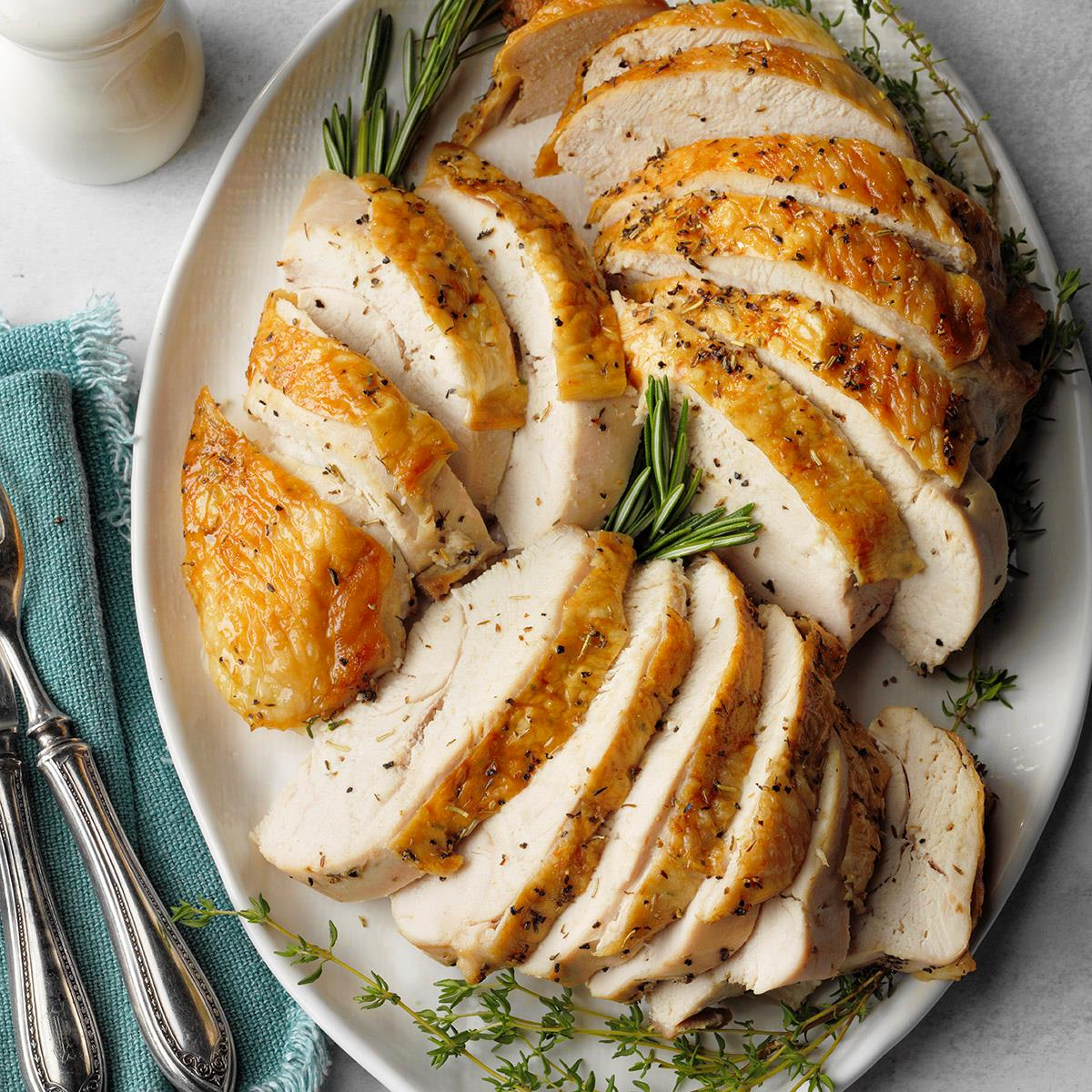 Herbed Roast Turkey Breast Recipe How To Make It Taste Of Home