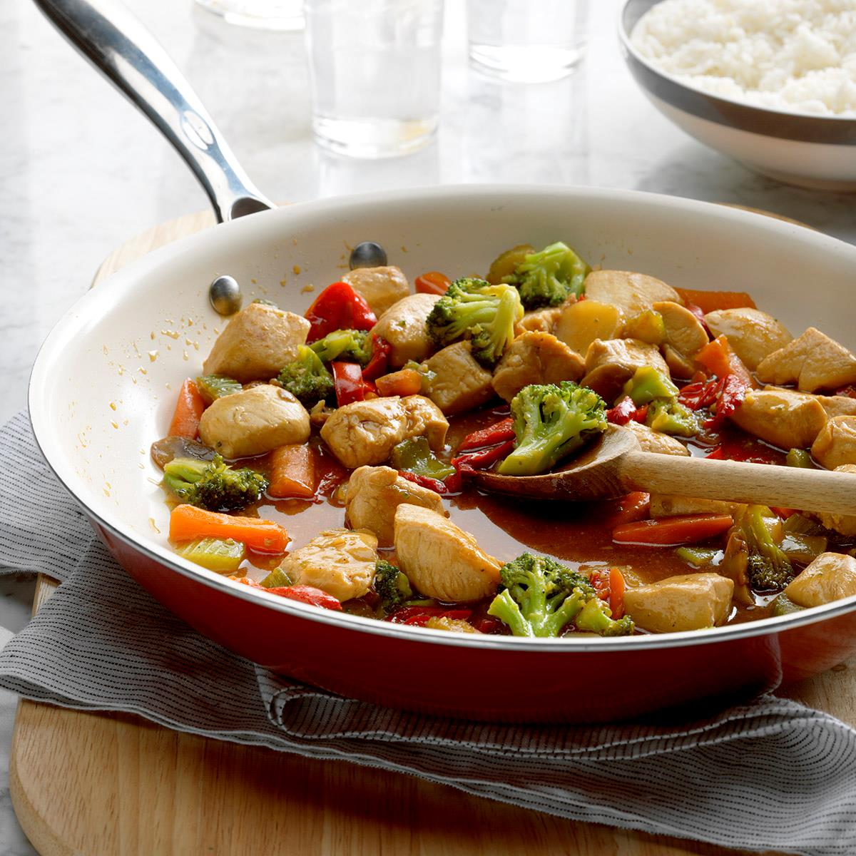 Honey Chicken Stir Fry Recipe How To Make It Taste Of Home