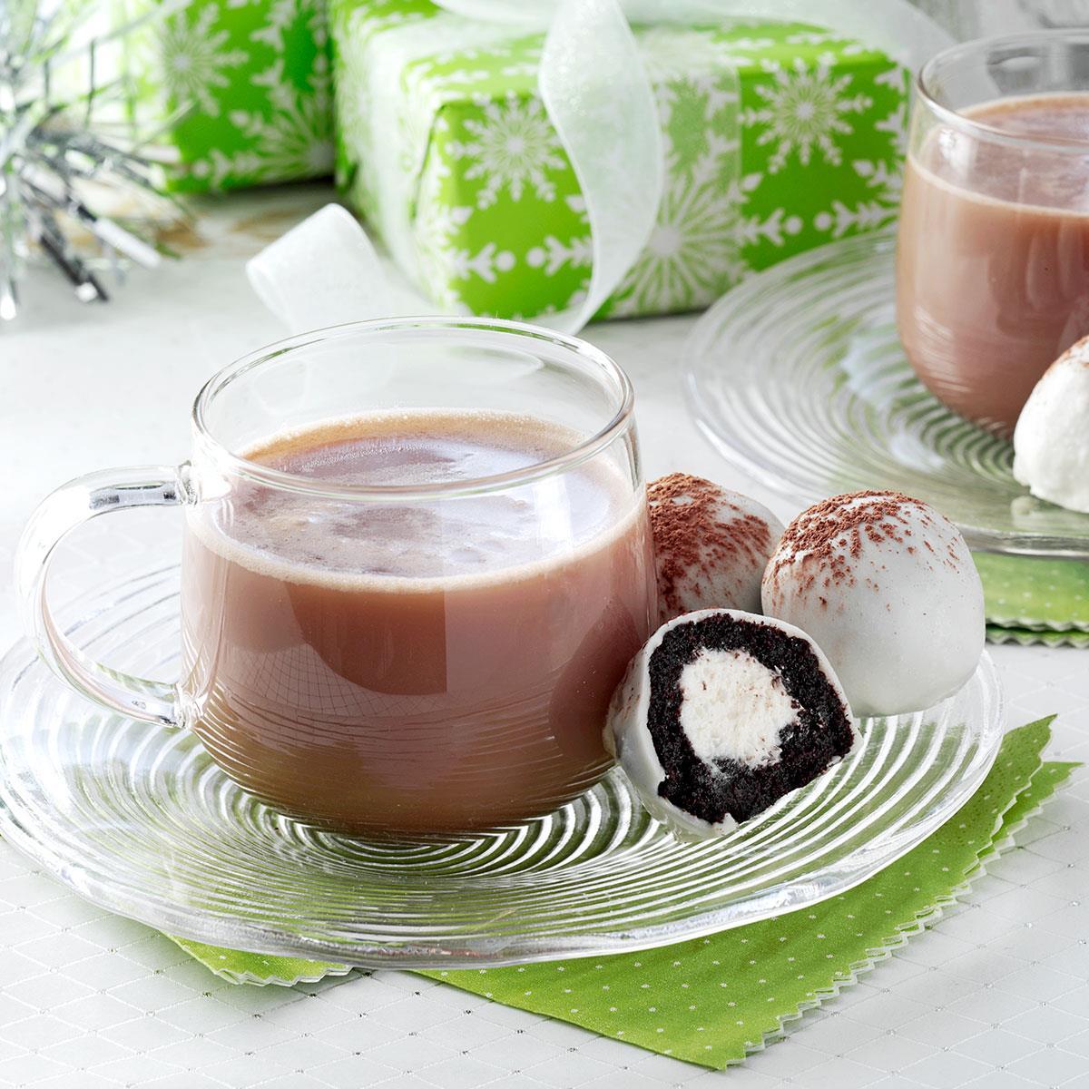 Hot Chocolate Cake Balls Recipe How To Make It Taste Of Home