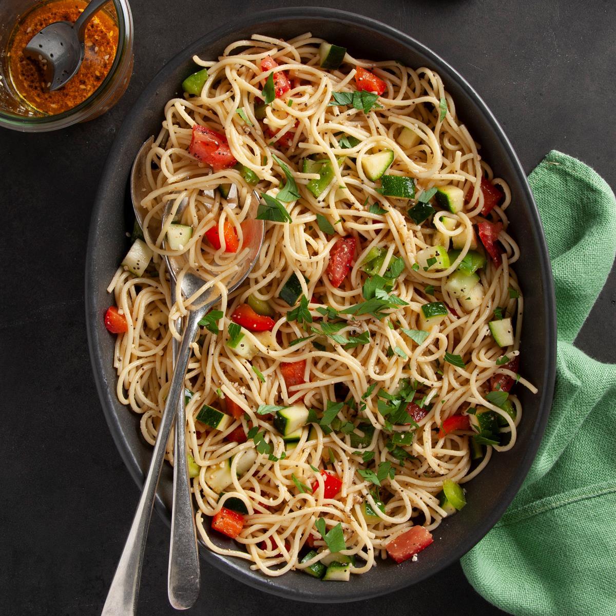 Italian Spaghetti Salad Recipe image