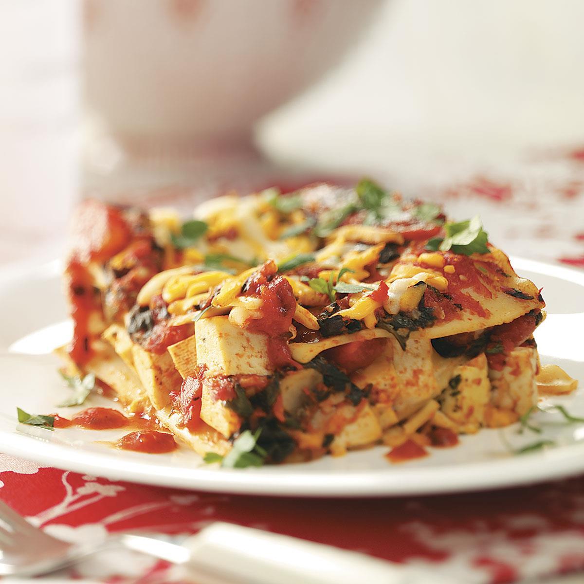 Lactose Free Spinach Lasagna Recipe Taste Of Home