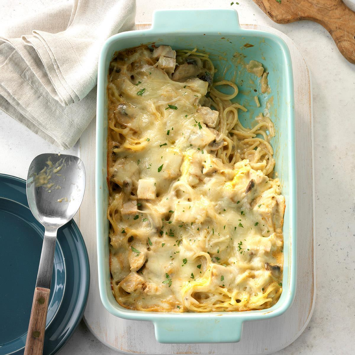 Leftover Turkey Tetrazzini Recipe How To Make It Taste Of Home