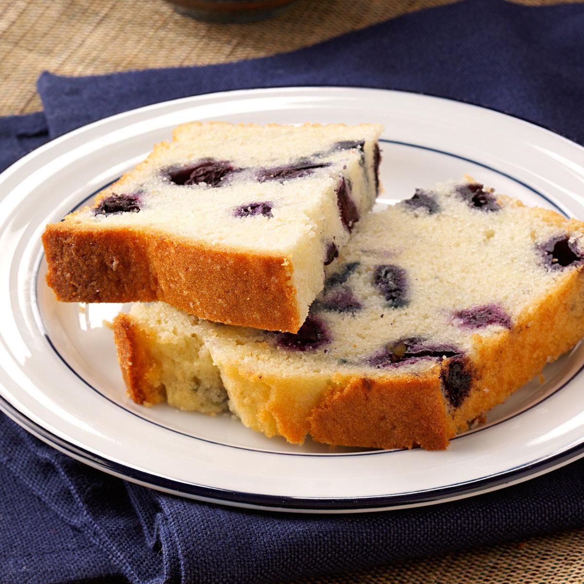 Lemon Blueberry Tea Bread Recipe How To Make It Taste Of Home