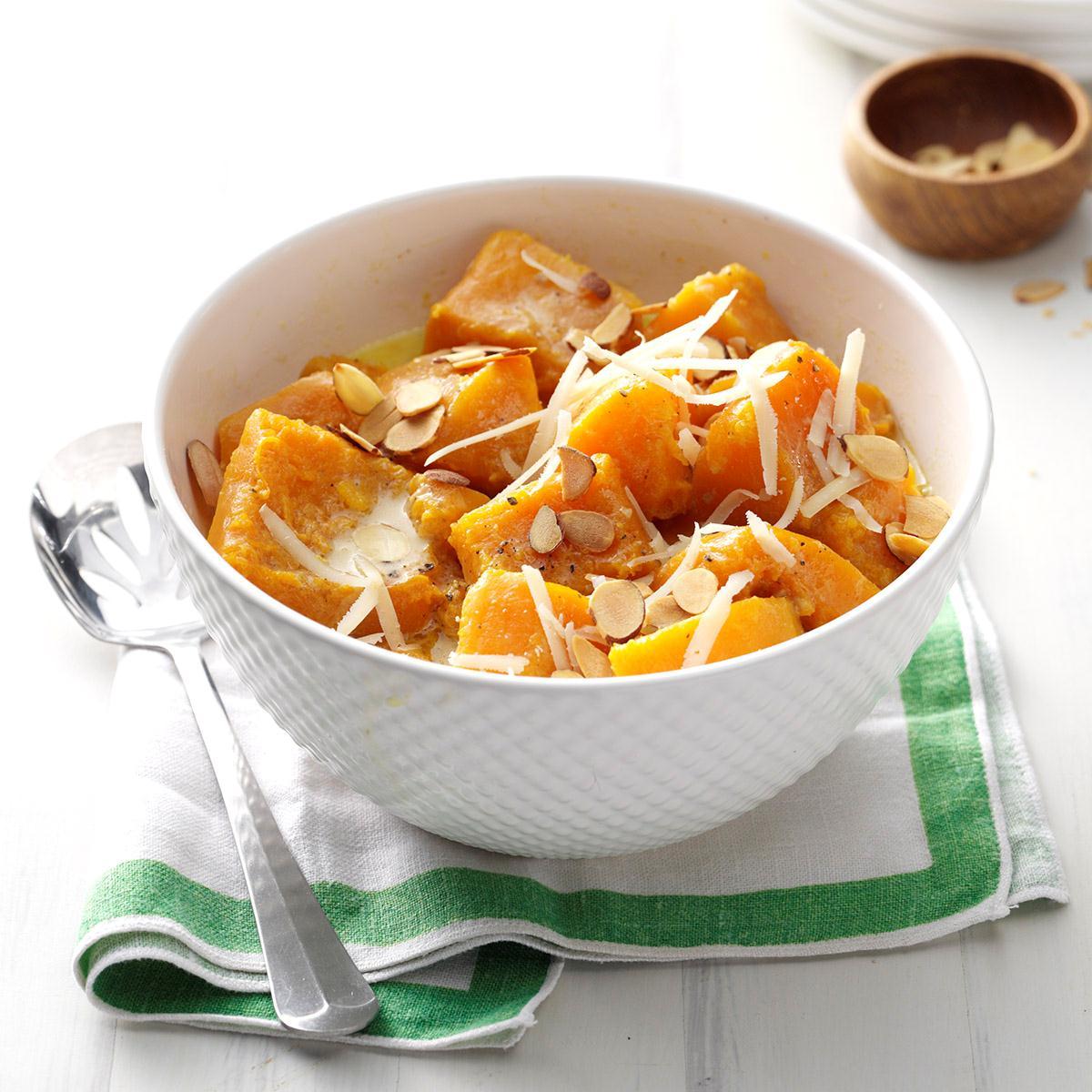 Maple-Almond Butternut Squash