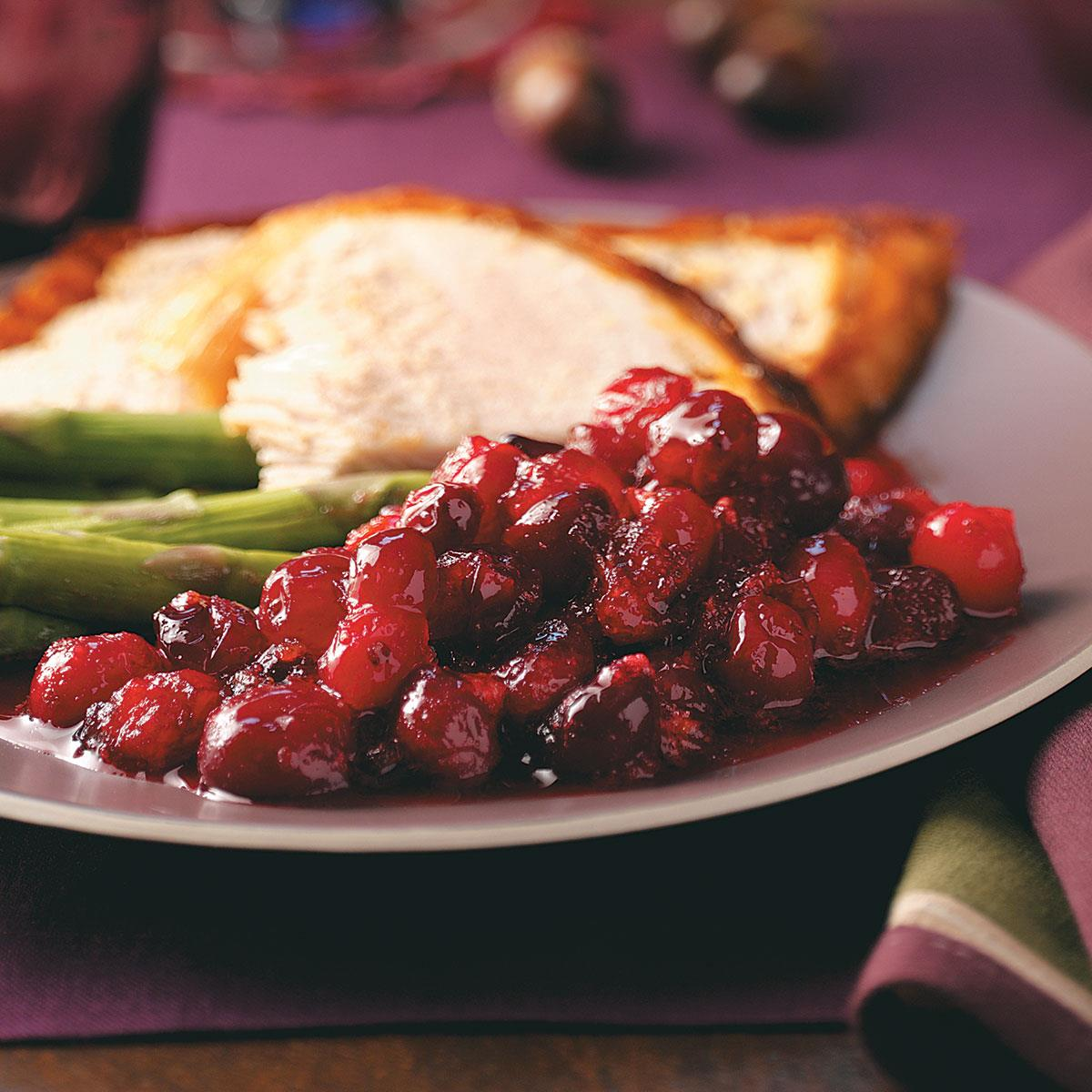Maple Honey Cranberry Sauce Recipe How To Make It Taste Of Home